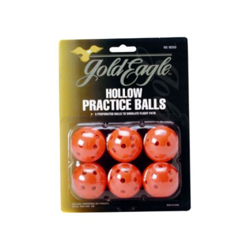 Hollow Practice Golf Balls 6 pack orange