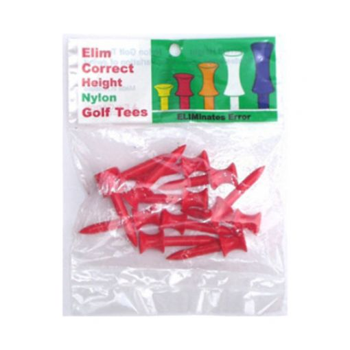 Plastic step tee Red (per pack)