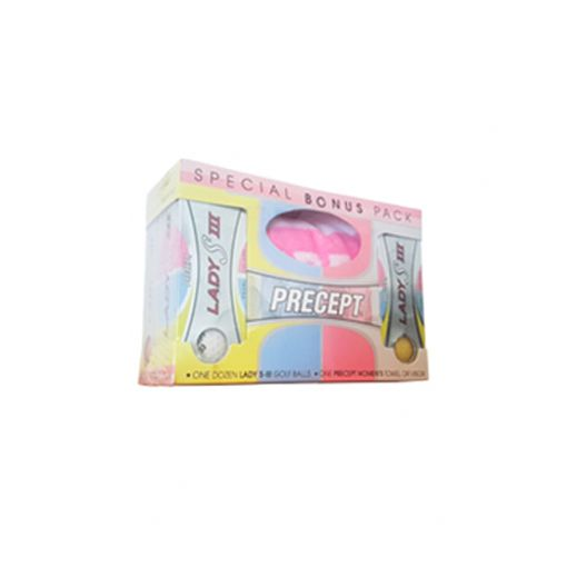 Precept Lady S III – Golf Balls (Dozen) and Towel Bonus Pack