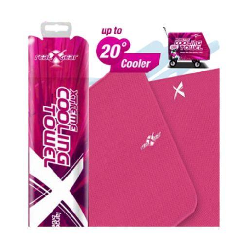 Xtreme Cooling Towel in Storage Container by Real Gear - Pink