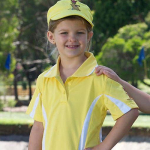 Girls Golf Polo Shirt Yellow (sizes 4 to 14)