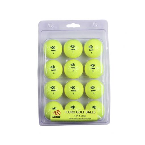Sonic Fluro Golf Balls New