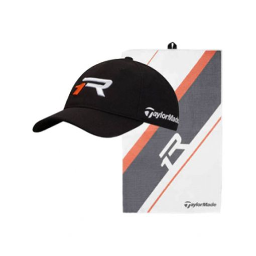 TaylorMade R1 Hat and Towel Pack
