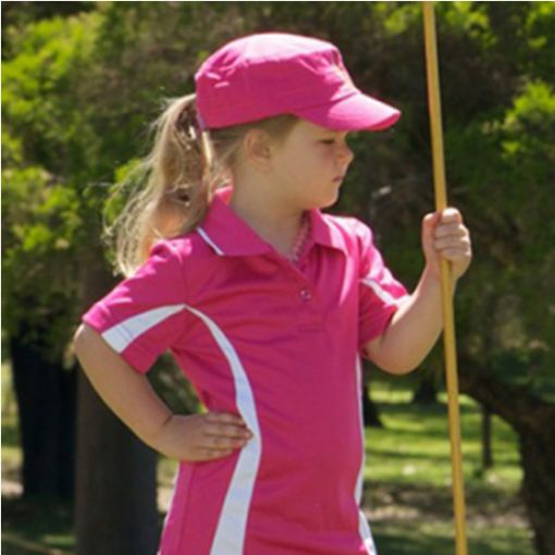 Girls Golf Polo Shirt Pink (sizes 4 to 14)
