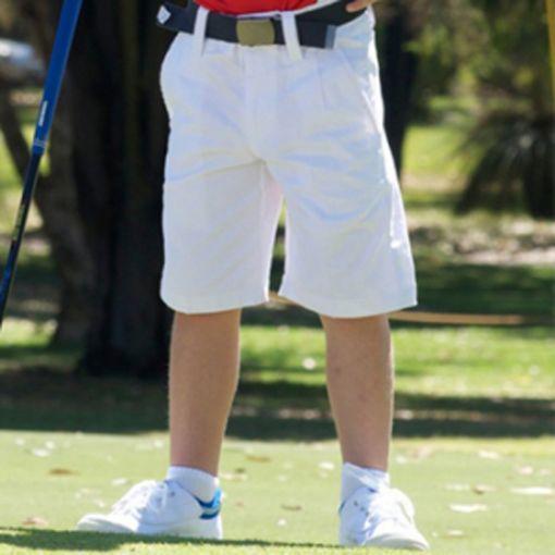 Boys White golf shorts Sizes 14 - 16