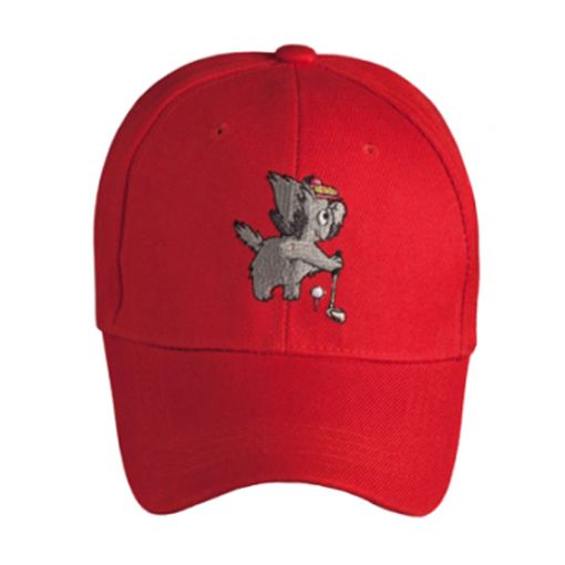 kids caps - Baseball Cap Red (with free ball marker)