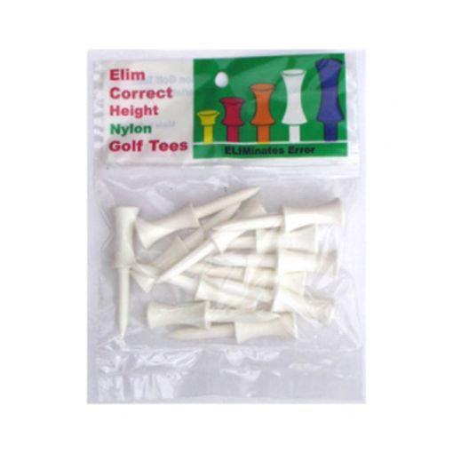 Plastic step tee White (per pack)